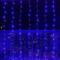 3M x 3M Icicle String Lights Xmas Outdoor Lighting Home Curtain Garden Christams Decoration Fairy Light 110V/220V EU/US Plug