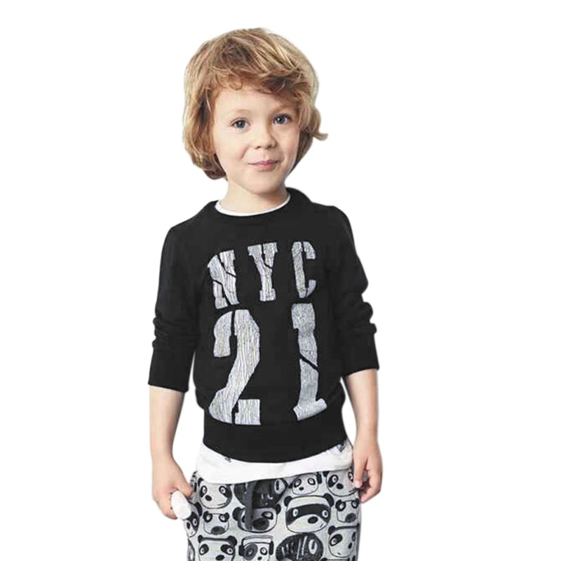 Cute Baby Clothes Fashion Style Long Sleeve Letter Printed Casual Baby Boy Set Baby Newborn Baby Clothes Set Y13