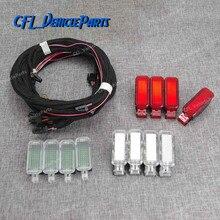 X12 Tür Panel Warnung LED Fußraum Licht Lampe + Harness Kabel 8KD947411 Für Audi A3 A4 B8 A5 A6 A7 a8 Q3 Q5 TT
