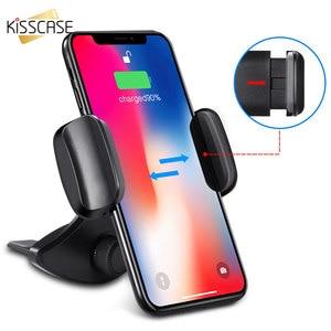 Image 2 - KISSCASE 360 Rotation Schwerkraft Auto Telefon Halter CD Slot Auto Halter Handy Halter Auto Stand Unterstützung Für iPhone X XS MAX XR