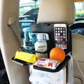 Car Auto Back Seat Folding Table Drink Food Cup Tray Holder Stand Desk Multi-purpose Travel Dining Tray Interior Accessories