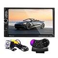7060B 7 дюймов Радио 2 Din Автомобильный MP5 Плеер Bluetooth FM сенсорный Экран руль пульт дистанционного управления Автомобиль DVD с Камеры Заднего Вида