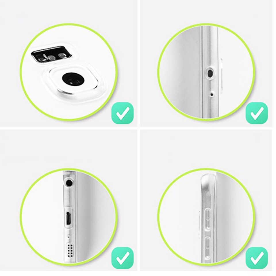 מקרה עבור Samsung A3 A5 A7 J3 J5 J7 2016 2017 A6 A8 בתוספת 2018 כיסוי 360 שקוף מלא סיליקון TPU כיסוי עבור A10 A30 A40 A50