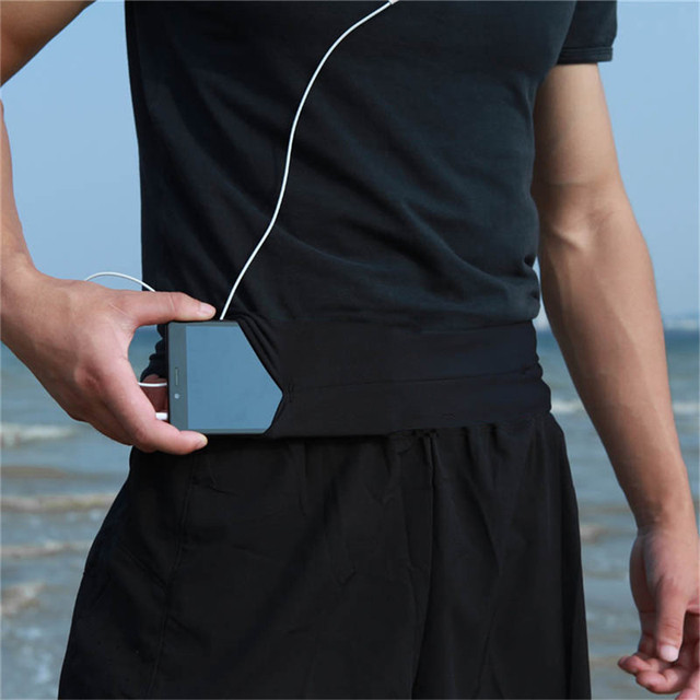 Men Lady Running Phone Waist Bag Pouch Jogging Belt Race Marathon Cycling Belly Bag Bumbag Waistbag Wallet Gym Sport Accessories