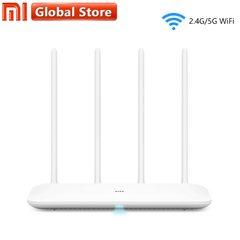 цена Original Xiaomi Mi WiFi Router 4 WiFi Repeater 2.4G 5GHz 128MB DDR3-1200 Dual Band Dual Core 880MHz APP Control Wireless Router