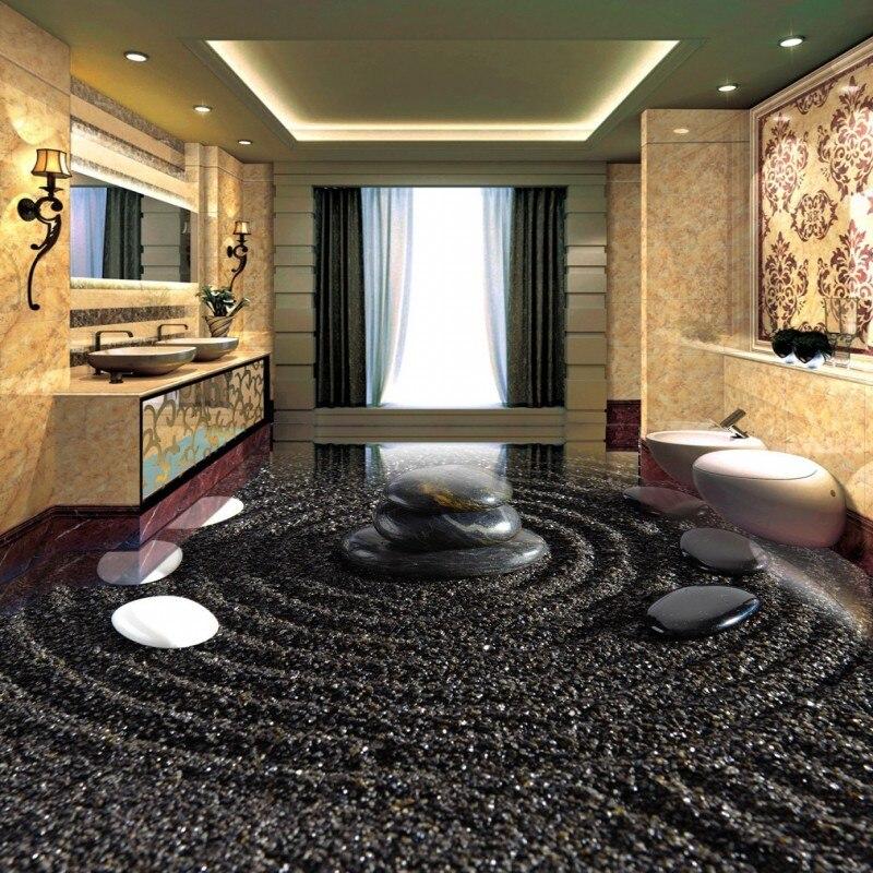 Freies Verschiffen nach Kopfsteinpflaster Bad Küche 3D Boden Malerei wohnzimmer restaurant selbstklebende bodenbelag tapete - 2