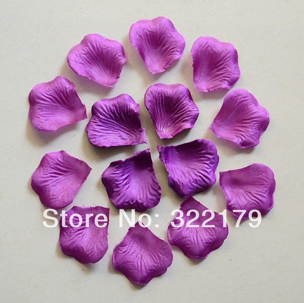 1000pcs Dark Purple Silk Rose Petals Wedding Confetti Favor Rose