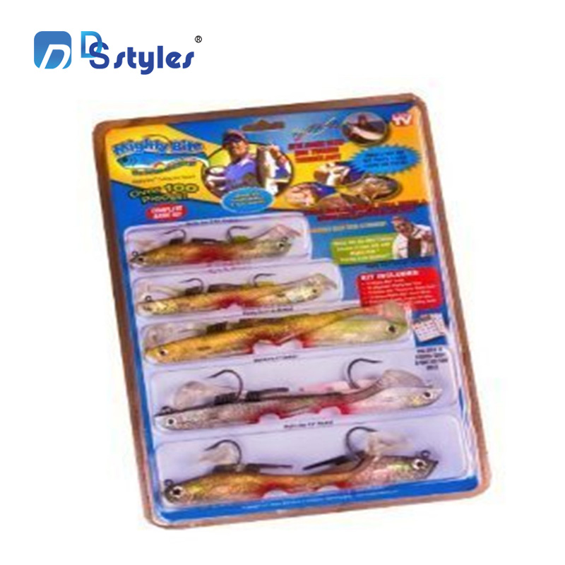 DSstyles 10PCS Fishing Wobblers Lifelike Fishing Lure Swimbait Crankbait Hard Bait Slow 5-sense wobbler fishing Artificial Lures lifelike earthworm style fishing baits 5 pcs