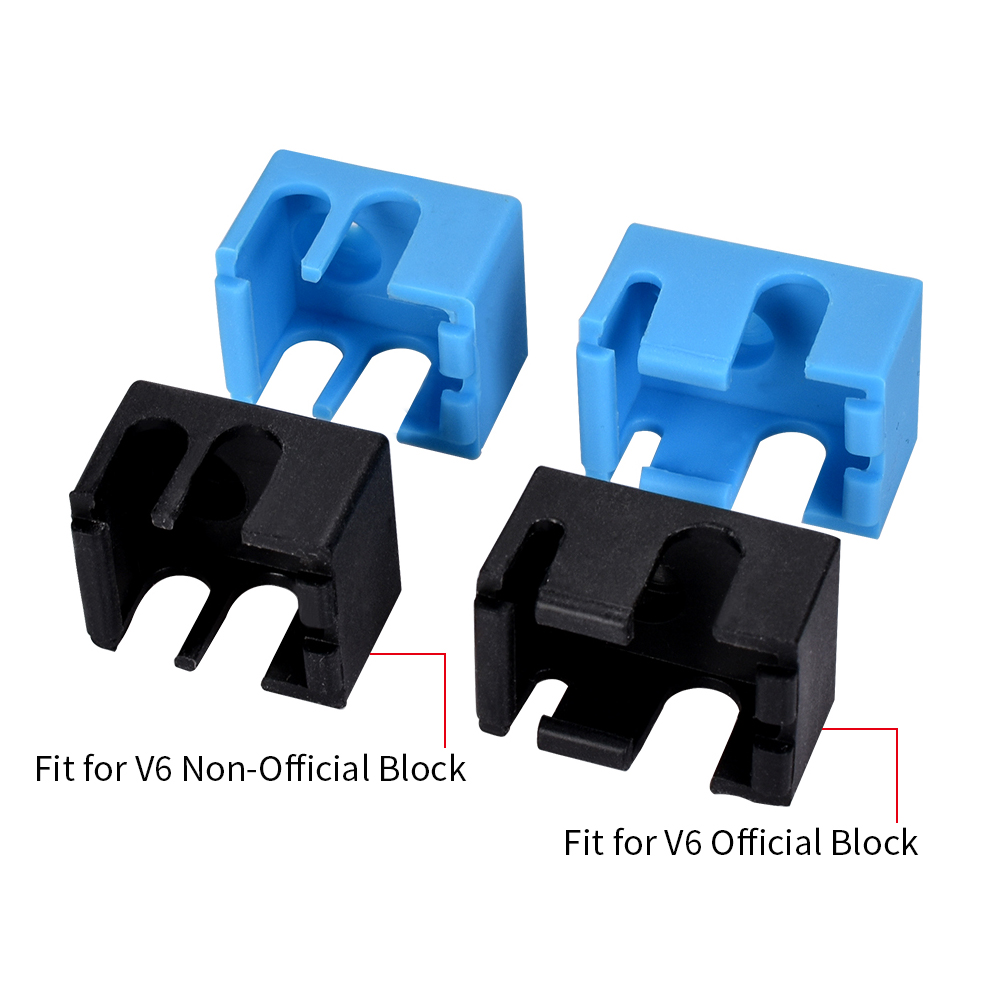 Bigtreetech V6 Silicone Socks Support V6 Original Block For J-head 1.75/3.0mm Bowden& Direct Extruder RepRap 3D Printer Parts