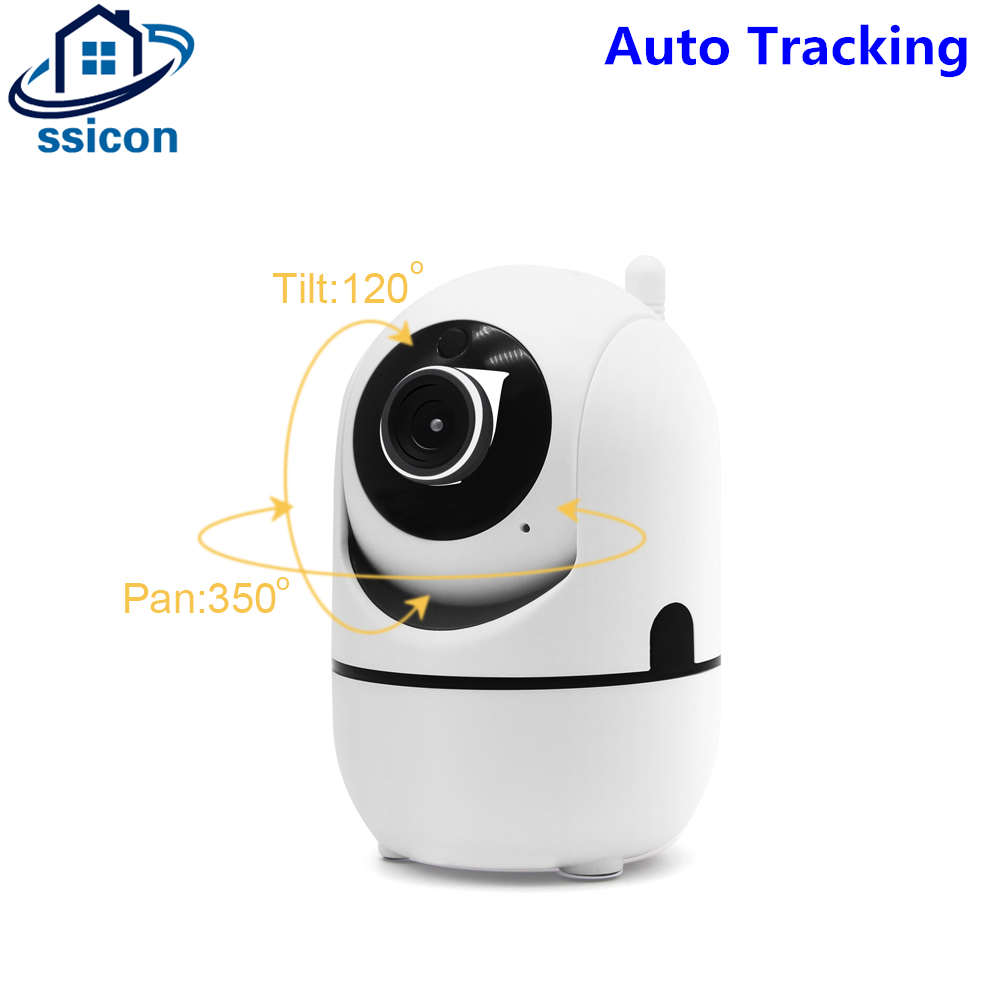 SSICON Full HD 720P Mini Auto Tracking Wif Camera Indoor 2Ways Audio Video Baby Monitor Cloud Wireless IP Camera IR Night Vision