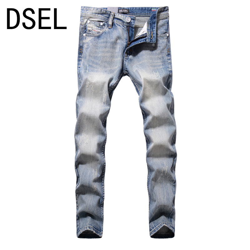 Designer Jeans Men High Quality Dsel Brand Ripped Jeans For Men Distressed Jeans Pants White Washed