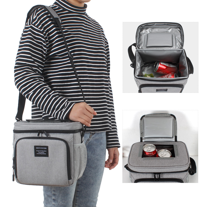 Insulated Picnic Lunch Bag Water-Resistant Leakproof Soft Cooler Bag Thermal Bento Box for Work/School/Outdoor Activities LH050
