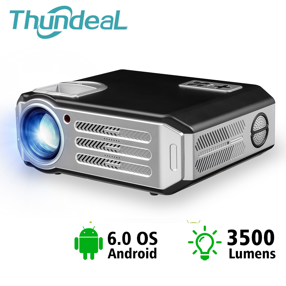 ThundeaL 3500 Lumens Mini Projetor de Cinema Em Casa LEVOU TV Proyector Beamer Suporte HD 1080 P HDMI AV VGA USB SD projetor de vídeo 3D