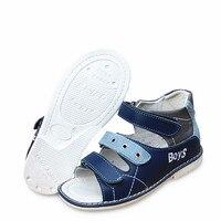 Nuevo 1 par de zapatos de cuero genuino para el apoyo del arco sandalias ortopédicas para niños, zapatos de Verano para Niños/bebés