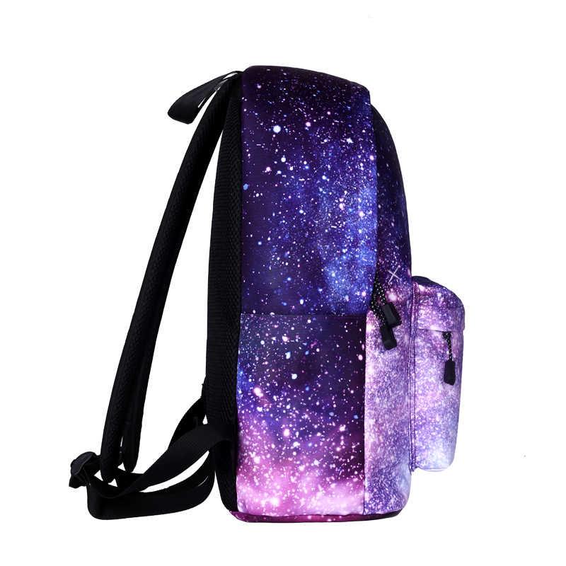 f3c48f3df0a3 ... Wishot экзо Lucky один Монстр Рюкзак Школьные ранцы дорожная сумка для  подростков девочек Женщины Звезды пространство ...