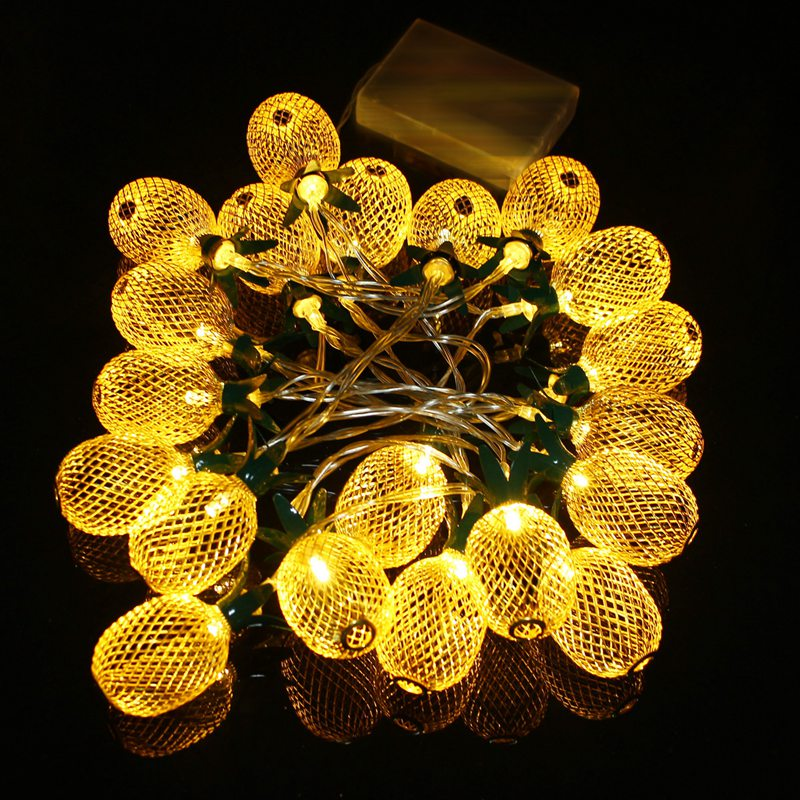 130cm Metal Pineapple Shaped Lanterns 10 LED String Light Christmas Battery LED Fairy String Lights Best For Wedding Party