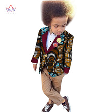 Здесь можно купить  2017 African Clothing kids dashiki Traditional cotton coat Matching  Africa Print Children top baby clothes cotton BRW WY1169
