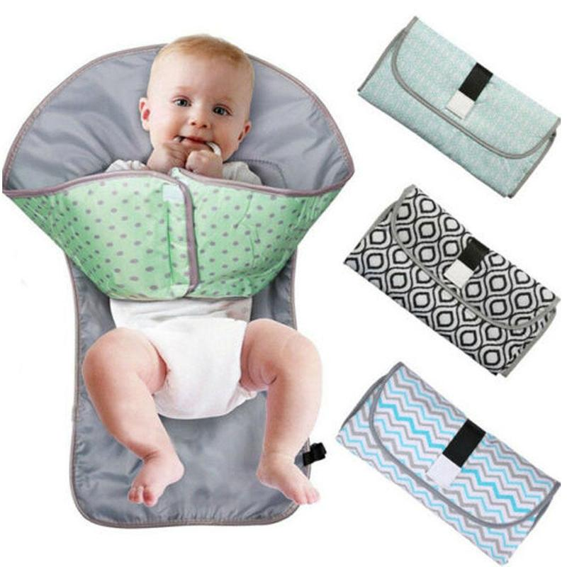 3in1 Multifunctional Portable Infant Baby Foldable Urine Mat Waterproof Nappy Bag Diaper Changing Cover Pad Travel Outdoor 75cm