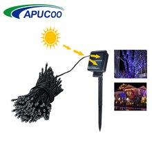 Светодиодный светильник на солнечных батареях 7 м 12 м 22 м светодиодный светильник на солнечных батареях s Сказочный праздничный светодиодный светильник для рождественской вечеринки водонепроницаемый садовый светильник