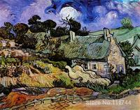 Famous Art For Bedroom Houses With Thatched Roofs Cordeville Vincent Van Gogh Paintings Hand Painted High