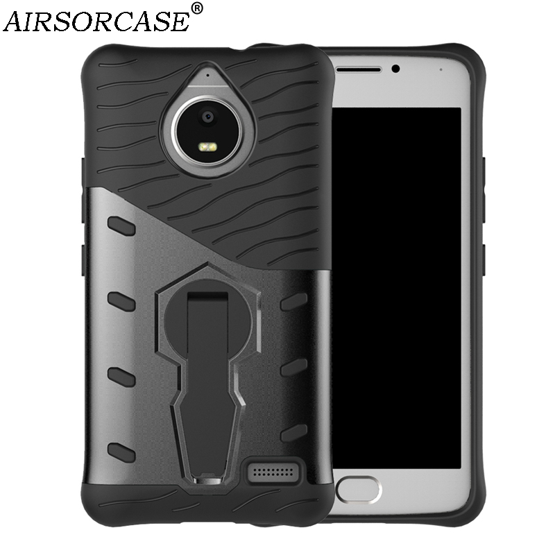 For Motorola MOTO E4 Case 5.0'' XT1762 XT1772 Cover Quality PC & TPU Hybrid Armor Back Cover Rotate Kickstand Mobile Phone Cases
