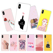 Feminist Girls Phone Case For iPhone 7 8 6 6S Plus X 10 Ten XS MAX XR 5S SE Art TPU Covers Coque Capa Cas Shell