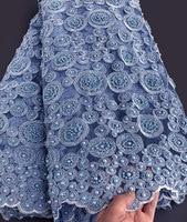 Wow ручной работы кружева очень тяжелое Африканское французское Кружевное Свадебное Тюль Ткань для больших случаев 5 ярдов в штуке