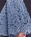 Wow handwork encaje muy pesado africano francés encaje boda tul tela para grandes ocasiones 5 yardas por pieza