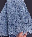 Wow merletto di lavoro manuale molto Pesante Africano francese sposa in pizzo tessuto di tulle per le grandi occasioni 5 yards per pezzo