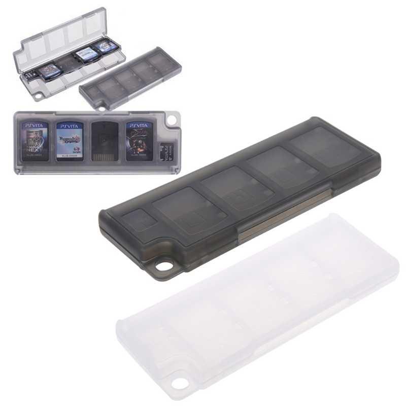 Portabel Memori Kartu Holder 10 In 1 Permainan Kartu Memori Penyimpanan Case Kotak Pemegang untuk Permainan Kartu Hitam