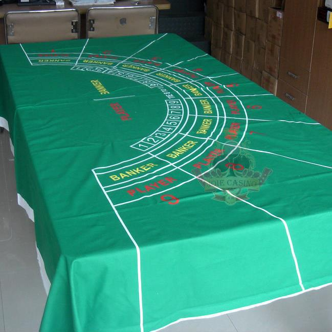 WP-007  Professional Water Resistant Poker Table Cloth,  Casino Layout Game Cloth 1PC