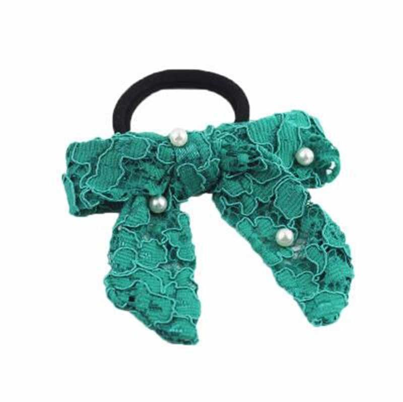 Летний модный зеленый кружевной женский тюрбан эластичный ободок для волос повязки на голову галстуки аксессуары для женщин девушек головной убор для волос