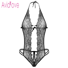 Avidlove valentine's day sexy lingerie hot erotic lace deep v neck teddy sexy erotic underwear lingerie lenceria sexy costume(China)