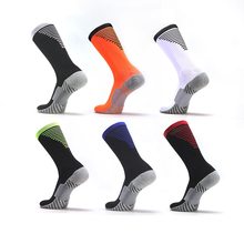 Men Cotton Sport Socks Anti Slip Professional Football Breathable Outdoor Riding Bicycle Cycling