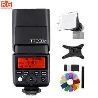 Godox Mini TT350O Speedlite TTL HSS1/8000 S GN36 Máy Ảnh Flash Pocket đèn TT350 + X1TO Trigger cho Olympus Panasonic