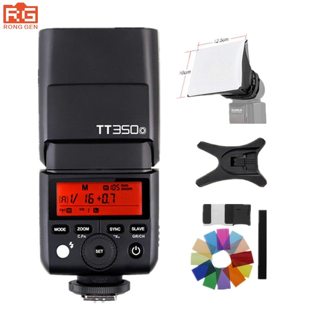 Godox Mini TT350O Speedlite TTL HSS1/8000S GN36 Camera Flash Pocket lights TT350 + X1TO Trigger for Olympus Panasonic godox tt685o ttl 2 4g wireless hss 1 8000s gn60 camera flash speedlite x1t o transmitter for olympus panasonic dmc fz2500gk