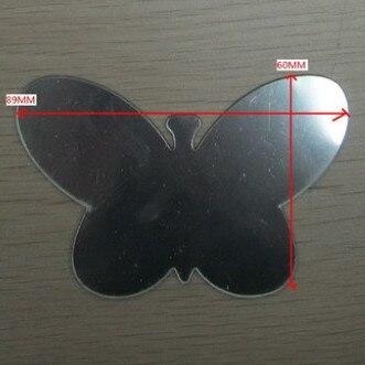 Пользовательские произвольной Форма акрил зеркало бабочка Форма акрил Оптические стёкла PMMA Pier Стекло декоративные линзы, и мы можем пробны...