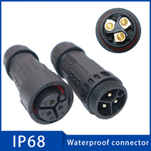 1PC IP68 Cable Waterproof Connector 25A 2 3 4 5 6 7 8 9 Pin Outdoor Security Equipment Wire Connectors for Cars Led Lights