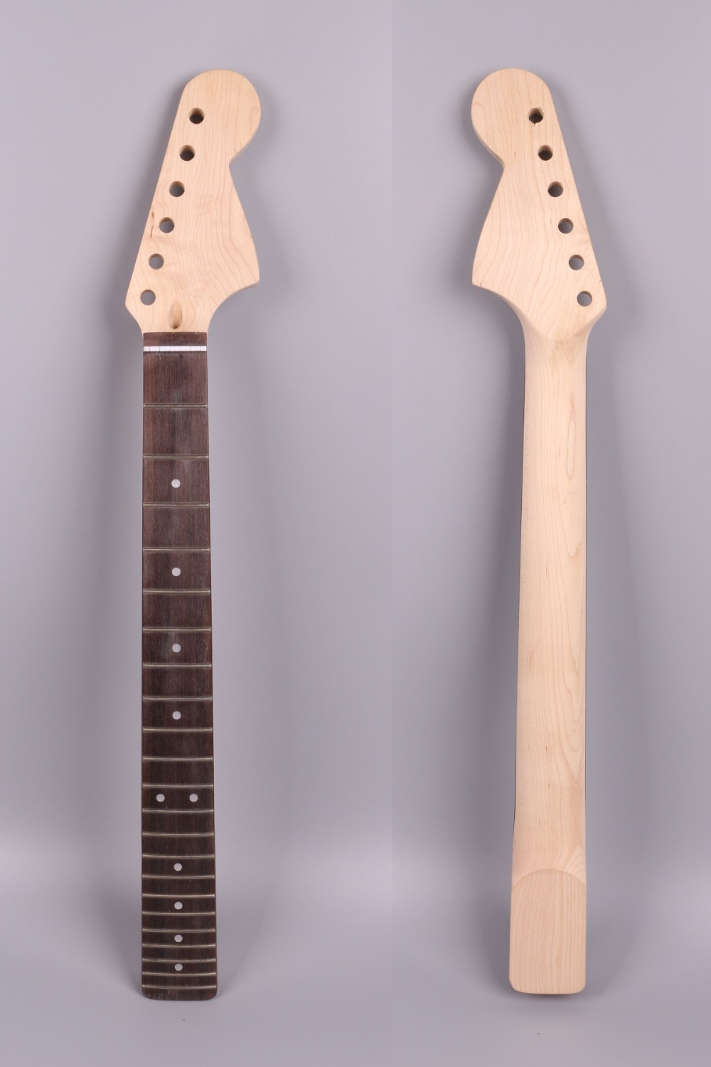 Yinfente Strat electric guitar neck replacement 22 fret rosewood fretboard Dot inlay 25.5 inch Maple Neck #S2 left hand electric bass guitar neck 21 fret 34 inch maple wood rosewood fretboard 719