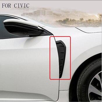 Fit voor Honda civic 10th generatie 2016 2017 spatbord kant decoratie koolstofvezel buiten accessoires sticker auto styling
