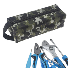 1Pcs 600D Oxford Canvas Waterproof Utility Tool Bag Screws Nails Drill Make Up Hand Tool Hardware Organizer Storage Bags Toolkit cheap Rumble Oxford Cloth About 24cm*8 5cm*7cm Blue Sliver Army Green 1pcs tool bag only (not include the tools) Screws Nails Drill Bit Bag