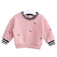Korean Excessive-quality Kids Plus Velvet Thickening Cartoon Printing Fleece Clothes Style Lengthy-sleeve Lady Sweatshirts Coat