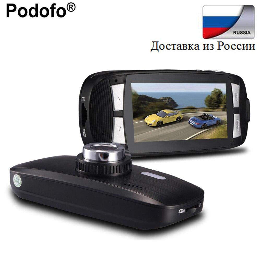 Podofo Novatek 96650 Dash Cam Car DVR 2.7 LCD Car Camera Black Box GS108 with WDR FHD Video Recorder G-Sensor Dashcam DVRs G1W цена