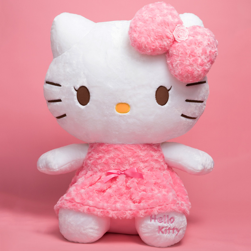Hello Kitty Anime Plush Doll Plush Good Lucky Cat Kawaii Hello Kitty Doll Child Gift Soft Toys Girlfriend Surprise Gift 29cm
