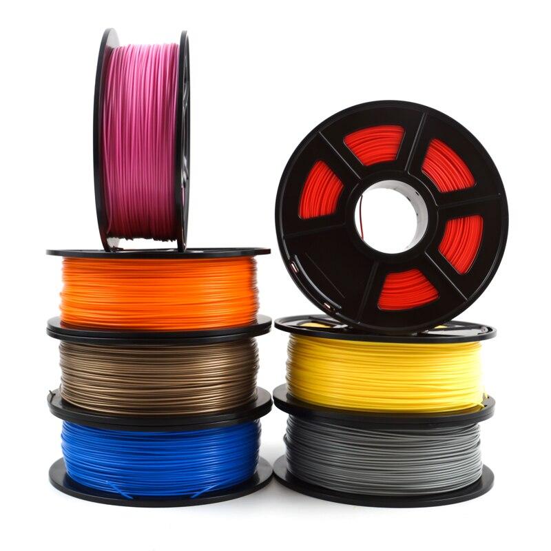 SunDcreate Top Qualité Marque 3D Imprimante Filament 1.75 1 kg PLA ABS En Fiber De Carbone TPU PETG BOIS Métal Plastique Filament matériaux