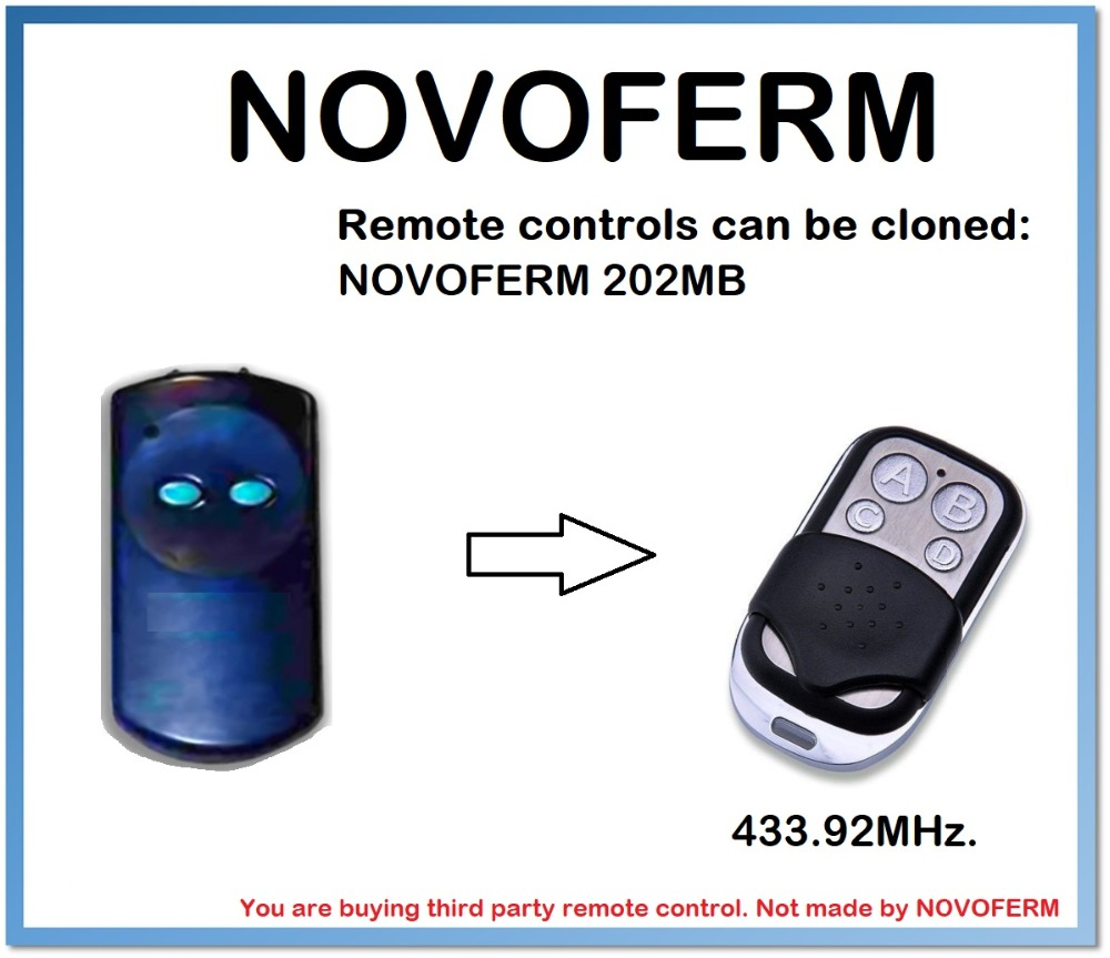 NOVOFERM 202MB Universal Remote Control Duplicator 4-Channel 433.92MHz .(only For 433.92mhz Fixed Code)