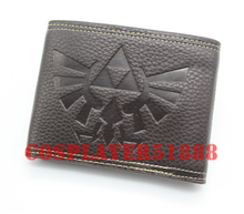 The Legend of Zelda Ocarina of Time Leather pu bifold black Two buttons purse