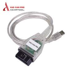 La mejor Calidad de VAG PUEDE PRO CAN BUS + + UDS k-line S.W Versión 5.5.1 VCP VAG PUEDE PRO para VAG/AUDI OBDII Cable de Diagnóstico Del Coche