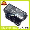 Подлинная ultra slim ноутбук адаптер переменного тока 20 В 6.75A для lenovo зарядное устройство 36200609 45N0361 45N0362 4X20E50564 4X20E50565 45N0364 45N0365