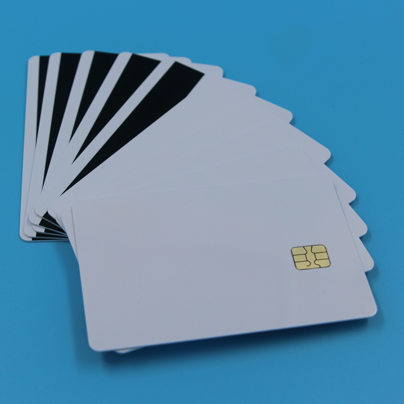 SLE4442 With Hi CO Magstripe Combo Contact Smart Chip IC Cards